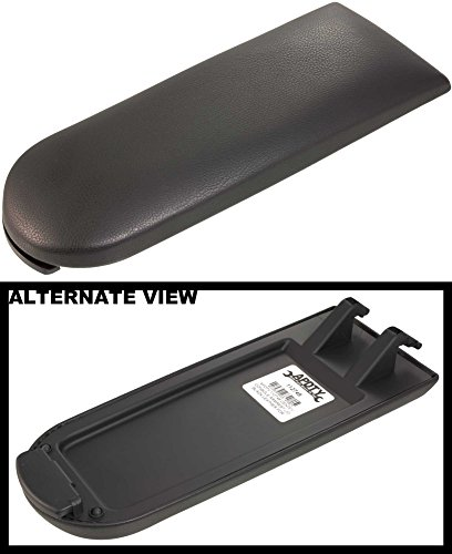 APDTY 112748 Center Console Armrest Lid Black Leather Fits 1998-2003 Volkswagen Beetle / 1999-2006 Volkswagen Golf / 2002-2005 Volkswagen Jetta (Replaces VW 3B0867173GTX, 18D 867 173 82V)