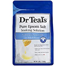 Dr. Teal's Epsom Salt Soaking Solution, Soften & Nourish with Milk and Honey, 48oz