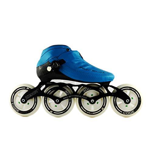 スリーブサーフィンレビューNUBAOgy インラインスケート、90-110ミリメートル直径の高弾性PUホイール、3色で利用可能な子供のための調整可能なインラインスケート (色 : 黒, サイズ さいず : 35)