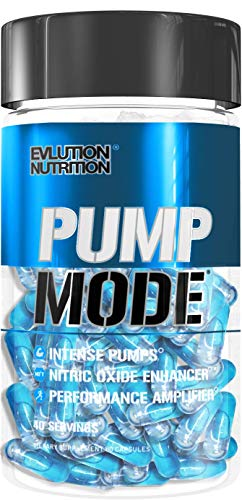 Evlution Nutrition Pump Mode Nitric Oxide Booster to Support Intense Pumps, Performance and Vascularity (40 Serving Capsules)