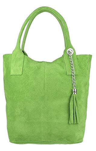 Girly Handbags , Sac pour femme à porter à l'épaule vert clair