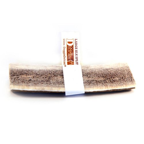 Doggie Delicacy All Natural Shed Premium Dog Treat and Chew, Elk Antler Splitz 5 to 6-Inch, Large, My Pet Supplies