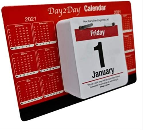 Full Year Forward Calendar Daily Quotes and Facts Included 2021 Desktop Calendar