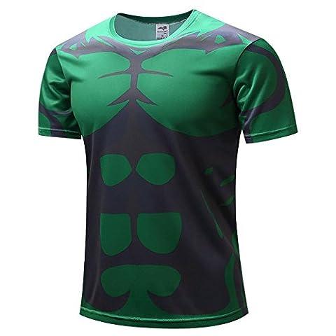 HOCOOL Men's Compression Sports Tee ,The Incredible Hulk Gym Shirt 4XL (Hulk Workout Tank)