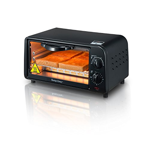 (KZL-GR09B 4-slice Toaster Oven KANGZILANG Temperature Control Toaster Oven Countertop with 30 Minute Timer Includes Bake Pan、 Bake Rack and Toaster Oven Cookbook)