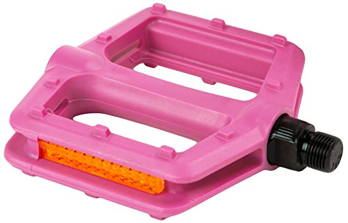 Retrospec Bicycles Low Profile BMX/Freestyle Style Multi-Use Bike Pedals, Pink (Pegs Bmx Pink Bike)