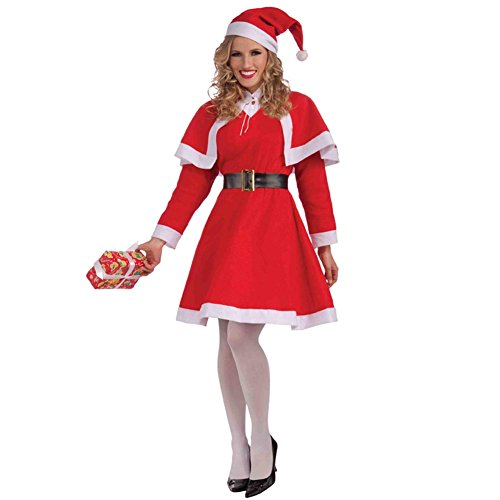 Forum Novelties Women's Miss Santa Costume, Red/White, Standard]()