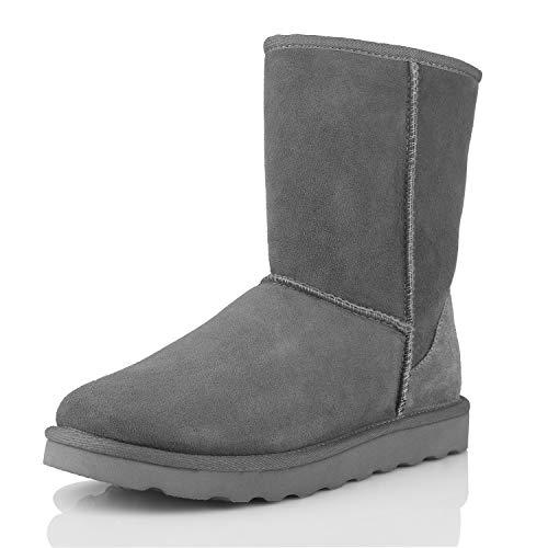WaySoft Genuine Australia Sheepskin Snow Winter Boots for Women, Classic Water Resistance Shearling Boots Women