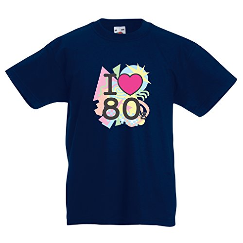 Funny t shirts for kids I Love 80s concert t shirts vintage clothing music t shirts band merch (12-13 years Dark Blue Multi Color) (Modells Gift Card compare prices)