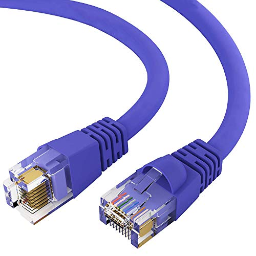 (GOWOS Cat6 Ethernet Cable (4 FT - Purple) 24AWG Network Cable with Gold Plated RJ45 Snagless/Molded/Booted Connector - 10 Gigabit/Sec High Speed LAN Internet/Patch Cable - 550MHz)