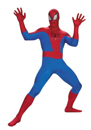 Halloween Costumes Rentals (Disguise Men's Marvel Spider-Man Rental Costume, Blue/Red,)