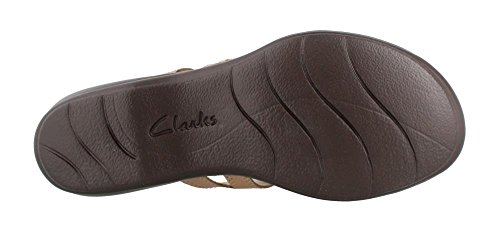 CLARKS Womens Leisa Grace Platform Sand 9dFXIJ