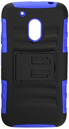 Asmyna Cell Phone Case for Moto G4 Play - Black/Dark Blue
