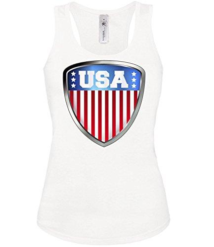Copa del Mundo de fútbol - Campeonato de Europa de Fútbol - USA FANmujer camiseta Tamaño S to XXL varios colores S-XL Blanco