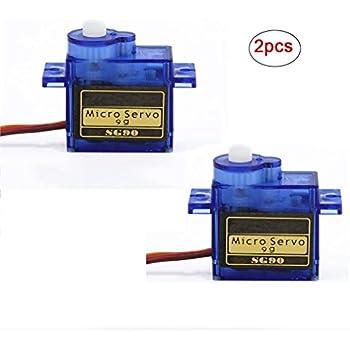 Riorand 2 pcs sg90 9g micro small servo motor for Micro servo motor arduino