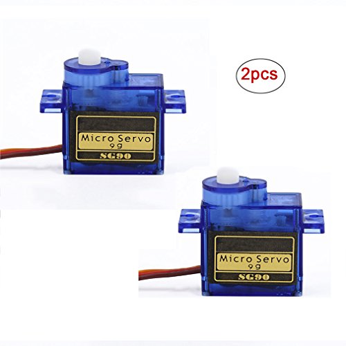 Small Servo - RioRand 2 Pcs SG90 9G micro small servo motor RC Robot Helicopter for Helicopter Airplane Boat Controls