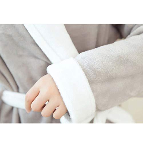 Color color Otoño Alta Albornoz Gray Pijama De Mujer Gama Sólido Manga Pink Batas Larga Felpa Suave Invierno Franela Huifei E 7TFBxW