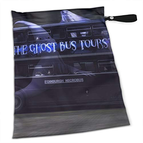Liusgit Cool Halloween Ghost Tour Bus Collection Duffle Gym Bag Shoe Compartment Wet Pocket Waterproof Gear Bikini Tote Dry Beach Swimming Camping Kayak Workout Clothes Weather ()