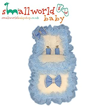 UNIVERSAL FOOTMUFF COSY TOES PERSONALISED PRAM BUGGY STROLLER GIRLS BOYS FRILLY BLING