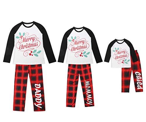 Christmas Family Pajamas Sets Papa Mama Kids Baby Merry Chrismas Top Red Plaid Checked Elf Pajama Pjs Xmas Sleepwear (Mens Only, Men's 3X-Large)]()
