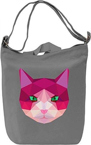 Origami Cat Borsa Giornaliera Canvas Canvas Day Bag| 100% Premium Cotton Canvas| DTG Printing|