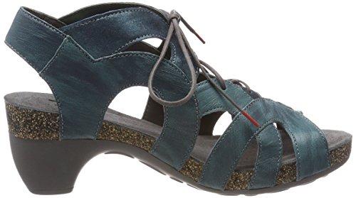 Sandales 79 Femme Bleu Lagune Think fermé Bout Traudi 282576 Kombi fHgWUqc1pa