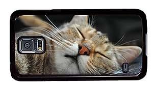 Hipster luxury Samsung Galaxy S5 Case Sleeping Cat PC Black for Samsung S5 by icecream design