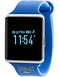 Automatic Plastic and Rubber Fitness Watch, Color:Blue (Model: EVWTR010BL)