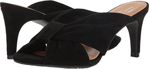 Aerosoles Sandals Suede (Aerosoles Women's Street Lamp Sandal, Black Suede, 9 M US)