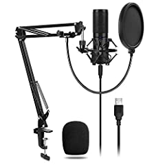 With the TONOR Q9 microphone, complicated setups are a thing of the past.  The built-in driver facilitates rapid plug-and-play USB performance on both Mac and PC operating systems. With fantastic sound quality, it's perfect for recording high...