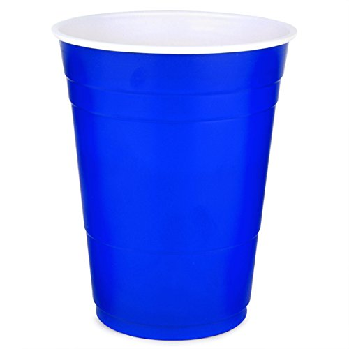 Plastic Party Cold Cups 16 oz. Blue 50/Pack