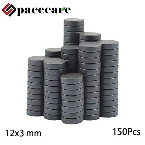 SPACECARE Round Ceramic Ferrite Multiple Use - 1/2 Inch x 1/8 Inch (12mmx3mm),150 Per Box ()