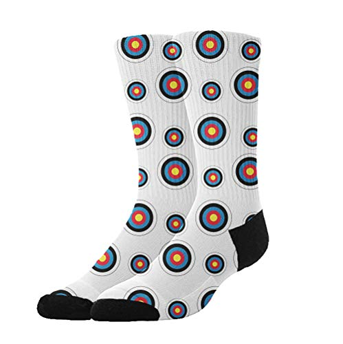 Archery Target Colorado Circular Tube Stockings Women's Winter Warm Socks Boot Socks ()