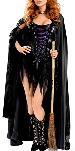 IF FEEL Women's Sexy Skeleton Halloween Costume Role Play Cosplay Sets (L, (Lady Gaga Skeleton Costumes)