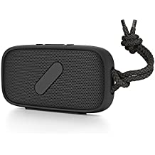 NudeAudio Super-M Portable Wireless Bluetooth Speaker; BLACK; IPX-5 Waterproof and Sand Proof Rating; Hand Free Phone Audio; Apple MacBook, iPhone 5, iPhone 6/6s/6 Plus, and Samsung Galaxy, Android Compatible