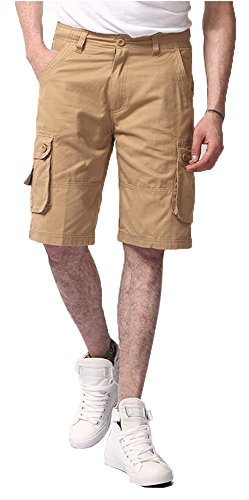 Lega Men's Twill Multi-Pocket Cargo Shorts