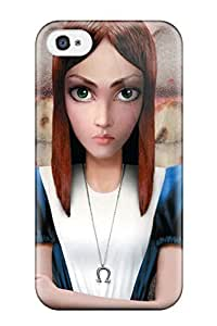 Magic Diy 4/4s Scratch-proof protective case cover For Iphone/ Hot Alice lWPRwR3WZYX Madness Returns Video Game Other cell phone case cover