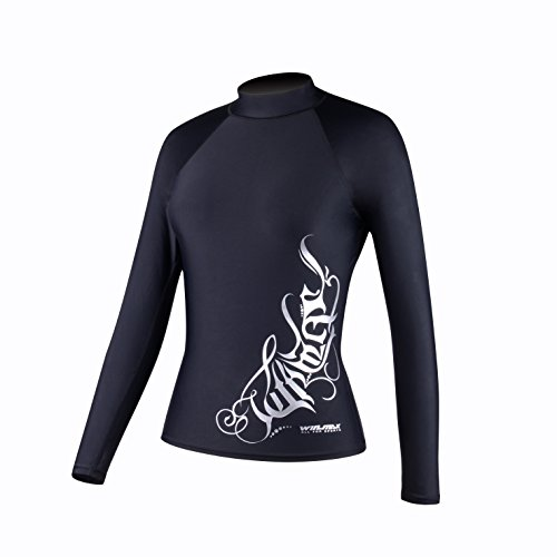 Women's Long/Short-Sleeve Rashguard UPF 50+ Swim Shirt Swim Tee For Kitesurfing, Snorkeling, Surfing, Skimboarding and Fun at the Water Park