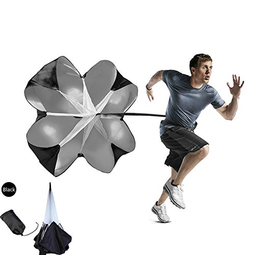 Enshey Speed Training Resistance Parachute - Training Parachute – Speed Chutes – with Adjustable Waist For Football Or Soccer with Free Carry Bag by Enshey