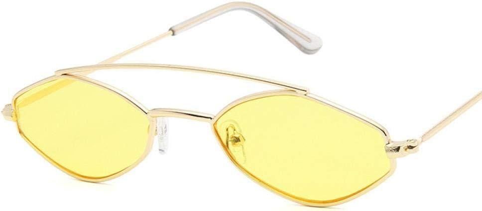 HPPSLT Gafas de Sol Polarizadas para Conducir Deportes100% Protección UV400 Conducción, Gafas de Sol Europeas y Americanas Gafas de Sol de Montura pequeña poligonales de Moda para Hombres y Mujeres