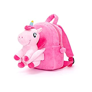 Conzy Kids Unicorn Backpack Plush Doll Toy Toddler Travel Backpack Preschool Shoulder Backpack for 1-5 Year Old Kindergarten Girls Gift