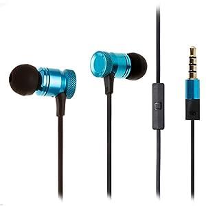 WAPT Sound KT – haute Qualité audio son équilibre Naturel – Écouteurs intra-auriculaires ergonomiques Anti-bruit – conception ALU Durable avec Garantie 2 ANS – Compatible smartphone, tablette et mp3 – Couleur Bleu