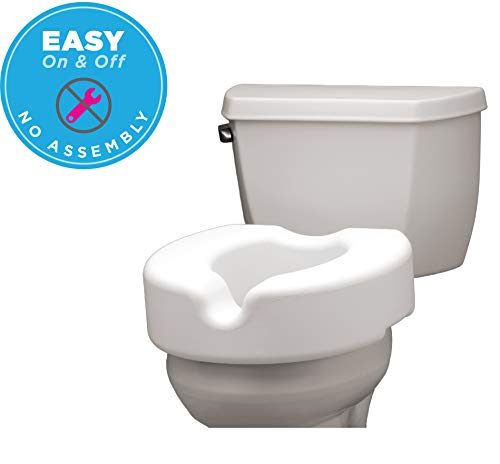 - NOVA Medical Products Elevated Raised Toilet Seat, Portable, Removable, for Standard and Elongated