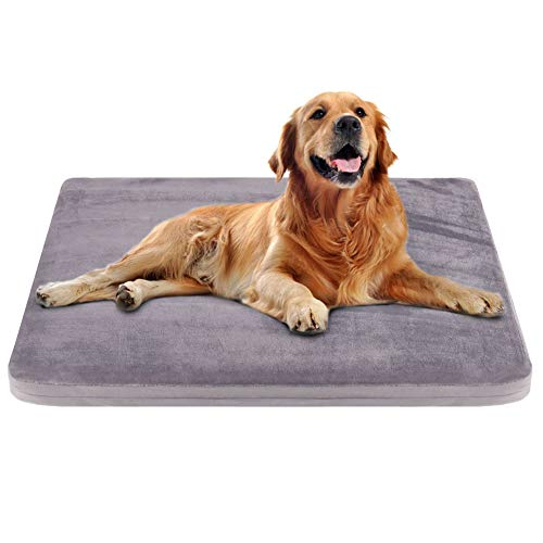 Large Dog Bed Crate Pad Dog Mat Mattress Pet Beds Foam Cushion with Washable Cover Anti-Slip 39.37″