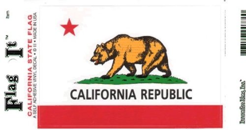 California flag decal for auto, truck or - Sticker Flag California