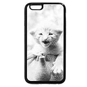 iPhone 6S Case, iPhone 6 Case (Black & White) - A kitten in a teapot