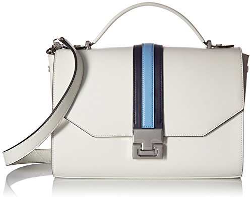 Ivanka Trump Hopewell Crossbody Messenger, Dove Racing Stripe