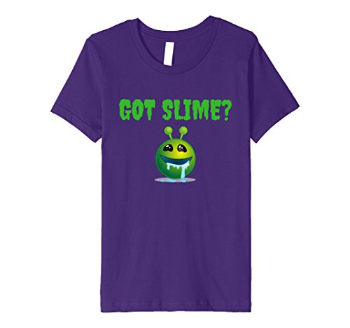 Price comparison product image Kids GOT SLIME T-SHIRT WITH ALIEN EMOJI FOR SLIME MAKER 12 Purple