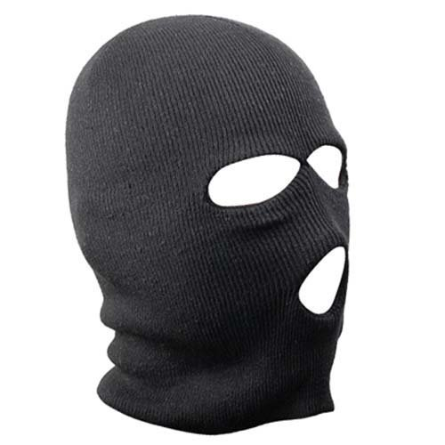 Black Balaclava - SAS Style 3 Hole Mask - Neck Warmer - Ski Mask - Paintball - Fishing - By TRIXES DD08