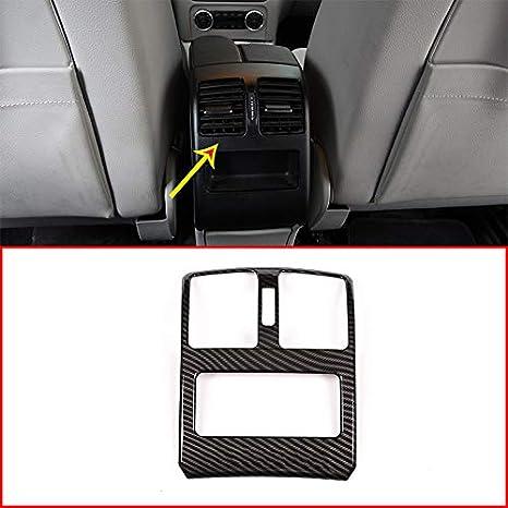 Fibra de carbono Estilo Auto Accesorios ABS Plástico Cromo Asiento Aire Acondicionado Tapa de salida de ventilación Ajuste para GLK Clase X204: Amazon.es: ...